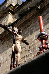 Crucifix  easter traditional celebration in Spain