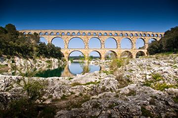 Foto auf Leinwand Kunstdenkmal Le Pont du Gard