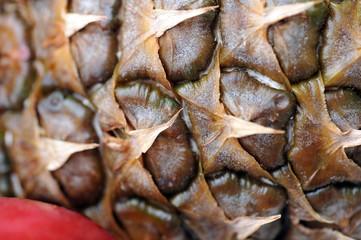 skin of a ripe pineapple
