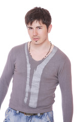 young casual man portrait