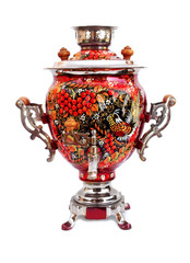 russian traditional samovar isolated