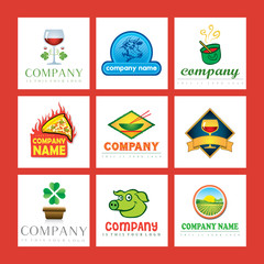 vector logos food and drink