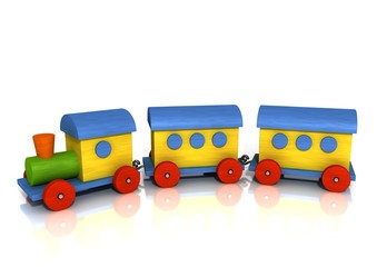 Colorful wooden Train