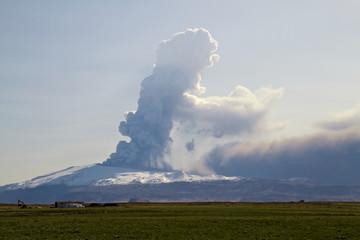Fotobehang Vulkaan Eyjafjallajokull volcano
