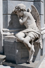 Angel statue at Recoleta cemetery, Buenos Aires