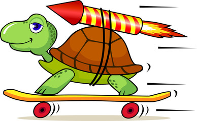 Fast turtle cartoon
