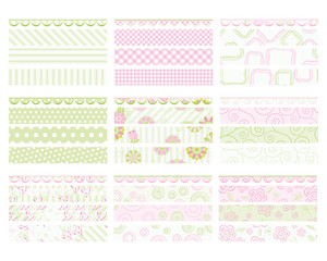 "Set of design elements. Collection ""for Mom"". Banners."