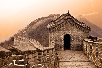 Foto auf Gartenposter Chinesische Mauer Grande muraille de Chine - Great wall of China, Mutianyu