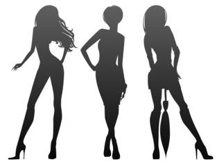 Silhouette beauty girls