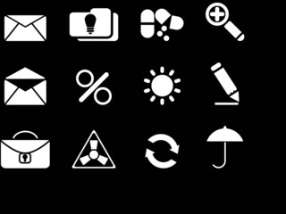 White icon set. vector