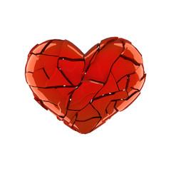 Broken red heart