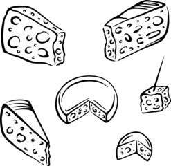 Käse, Vektor Set, cheese