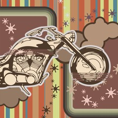 Chopper Motorcycle Background