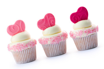 Wall Mural - Valentine cupcakes