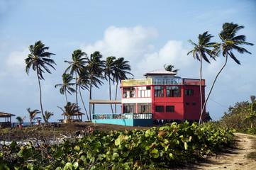 colorful beach architecture corn island nicaragua