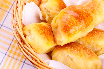 Delicious freshly baked pastry/rolls filled with cheese