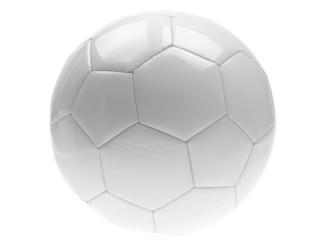 white soccer ball on white background