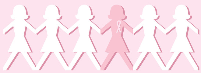 Breast Cancer Awareness Paper Dolls