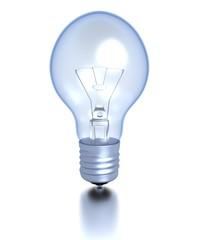 Lightbulb with slight reflection