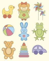 Set of children's toys