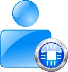 Color web icon. vector