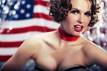 Patriot pin-up woman