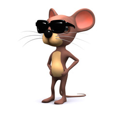 Cool mouse in shades