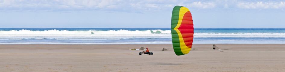 kitebuggy on the beach