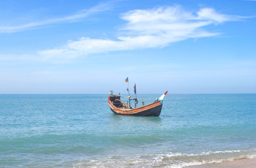 Fishing boat near the Saint Martins island of Bangladesh