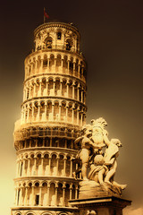 Pisa tower - great italian landmarks series