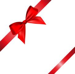 Vector bow and ribbon