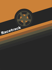Races. Illustration in style of minimalism.