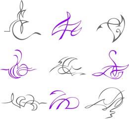 A set of exquisite design elements.
