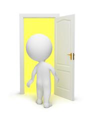 3d small people - open door