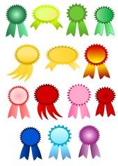 Colorful award ribbons