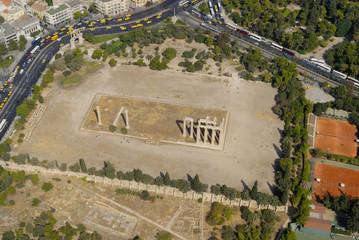 Temple of Zeus, aerial view,