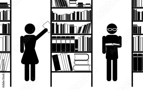 """Download """"Library, vector icon"""" Stock image and royalty-free vector ..."""