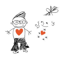 Loving clubbers doodle.