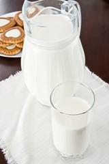 Milk with cookies