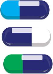 gel capsules in blue