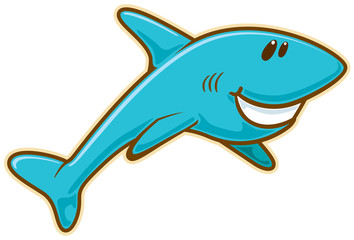 Shark. Vector without gradients