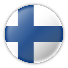 Round Pin Flag of Finland