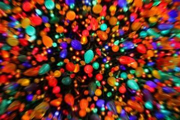 Zoom Blur Christmas Lights