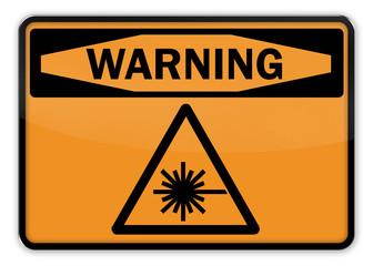 "Warning Sign ""Laser"""