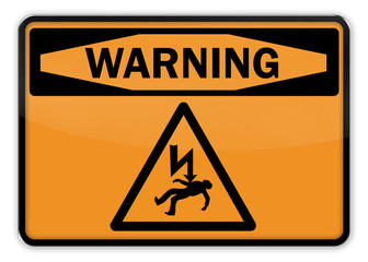 "Warning Sign ""Electric Shock"""