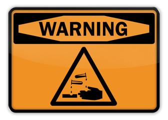 "Warning Sign ""Acid"""