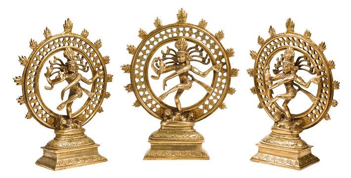 Statues of Shiva Nataraja - Lord of Dance isolated