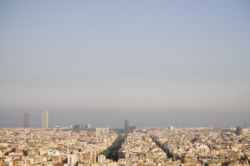 Panorama von Barcelona in Spanien