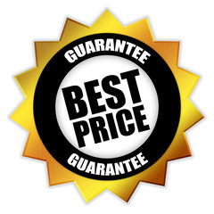 "Star-shaped Sticker ""Best Price - Guarantee"""