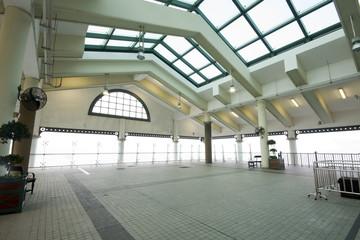 indoor area of ferry habour